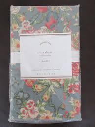 standard pillow shams. Pottery Barn Mia Floral Standard Pillow Shams Blue Pink Green NEW ORIGINAL Pkg #PotteryBarn