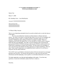 Hardship Letter For Loan Modification With Letters Loan M