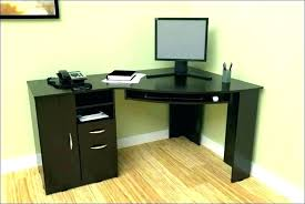 tall corner desk walnut computer with filing cabinet small