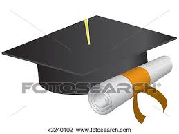 clipart of graduation cap and diploma on a white background  clipart graduation cap and diploma on a white background vector illustration fotosearch