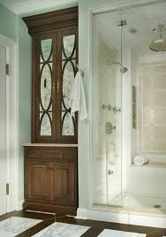 antique mirror glass bathroom traditional with white tile shower floor dark wood dr