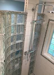 bathroom windows inside shower. Inside View Of A Curved Glass Block Shower And Acrlic Window In Small Bathroom Windows R