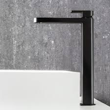 Black Taps Bathroom Fantini Mare Extended Basin Mixer Matte Black Rogerseller