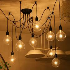 lighting pipe ceiling light diy copper water lamp iron fixture