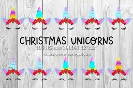Christmas Unicorn Set Graphic By Natashaprando Creative Fabrica