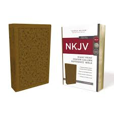 Nkjv Reference Bible Center Column Giant Print Leathersoft Tan