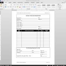 Purchase Request Form Requisition Iso Template With Regard To Purchase Request Form 7