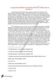 xivth dalai lama essay year hsc studies of religion i  xivth dalai lama essay
