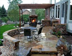 fireplace installation cost average to build patio