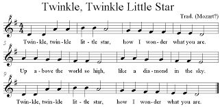 Twinkle Twinkle Little Star Recorder Finger Chart Twinkle Twinkle Little Star Recorder Sheet Music Beginners