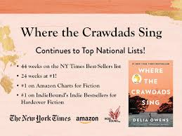 New York Times Book Best Seller Charts Crawdads Continues To Top The Charts Delia Owens