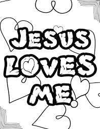 Jesus Loves Me Valentine Coloring Pages With Jesus Loves Me