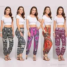 2019 women s clothing thai boho style pants trousers festival happy elastic waist elephant yoga clothes cotton polyester from betty9907 12 57 dhgate