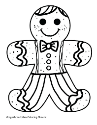 Free Coloring Pages Gingerbread Man Pjlibraryradioinfo