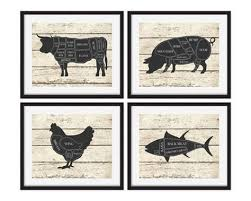 wooden pig wall art butcher chart cow pig chicken on wooden pig wall art with pig wall art elitflat