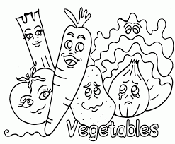 Small Picture Fruit And Vegetable Coloring Pages Coloring Home