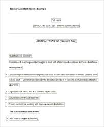 Head Start Teacher Assistant Sample Resume Unique Free Teacher Resume 44 Free Word PDF Documents Download Free