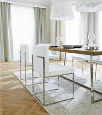 faux leather and chrome dining chairs. dining room:windsor chairs brown leather room white padded orange faux and chrome g
