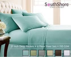 best deep pocket sheets. Brilliant Best Southshore Fine Linens 6 Piece U2013 Extra Deep Pocket Sheet Set And Best Sheets