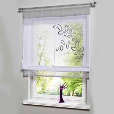 Roller Blind For Kitchen Aliexpresscom Buy Hot Sales Embroider Voile Curtains Short