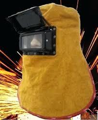 leather welding hoods w helmet mask solar auto darkening filter lens welder hood leather welding hoods