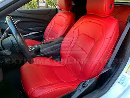 custom fit red interior leather seat