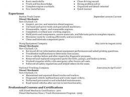 Heavy Duty Mechanic Resume Sample Diesel Mechanic Resume Examples