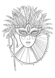 Small Picture Beautiful Lady in Carnival Mask coloring page Free Printable