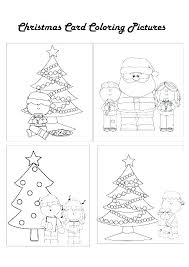 christmas card color pages christmas card coloring pages