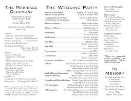 sample wedding program wording wedding programs wedding program inside outside wedding ideas