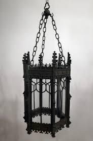 gothic lantern lighting. 19thC Verdigris Bronze Gothic Lantern Lighting
