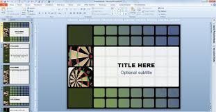 Free Animated Darts Template For Powerpoint 2010