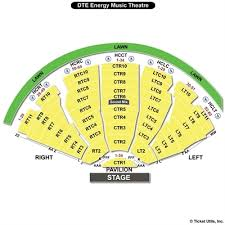 Dte Music Theater Seating Chart Dte Energy Seating Chart Energy Etfs