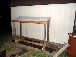 i based the size of the rack according to the piece of plastic roofing that was underneath the house when we purchased it