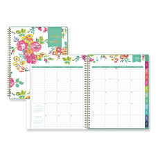 Day Designer Academic 2019 Day Designer Academic Year Cyo Weekly Monthly Planner 11 X 8 1 2 White Floral 2019 2020