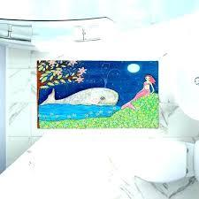 Little Mermaid Bathroom Whale Bath Mat Mermaid Bathroom Rug Mermaid Bath Rug  Artistic Bathroom Mats Whale