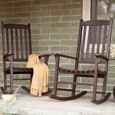 rocker patio chairs. coral coast indoor/outdoor mission slat rocking chairs - dark brown set of 2 | hayneedle rocker patio a