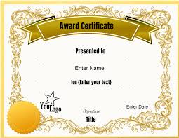 Blank Certificate Templates Editable – Elsik Blue Cetane