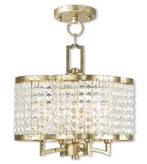 livex 50574 28 grammercy 4 light 14 inch hand applied winter gold convertible mini chandelier semi flush mount ceiling light