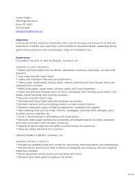 Custodian Resume Imposing School Custodian Resume Objective Examples Elementary 5