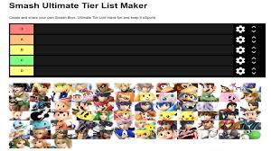 Who Im Going To Play In Smash Ultimate Tier Chart