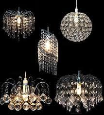 acrylic crystal bead chandelier style modern ceiling light shade crystal glass