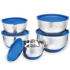 Amazon.com: 5 Piece <b>Stainless Steel</b> Mixing Bowls Set With Lids ...