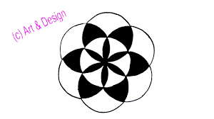 Draw A Design How To Draw A Simple Design With Circle Step By Step Youtube