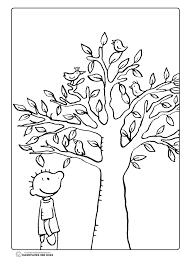 Kleurplaat Jules En De Boom Thema Lente Herfst Knutselen Herfst