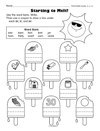 Phonics cut and paste worksheets for kindergarden to practice alphabets and sounds. Literacy Worksheet R Controlled Vowels Ar Ir Or The Mailbox Vowel Worksheets Phonics Worksheets Phonics Worksheets Free