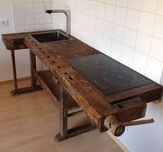 loftm bel industrie vintage werkbank design K che in Antiquit ten.