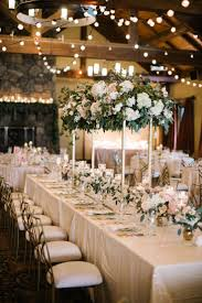 Elegant Blush and Champagne Wedding. Wedding Reception TablesWedding ...