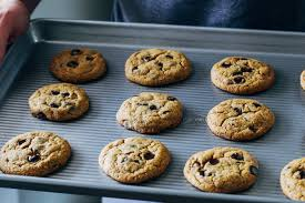 the best vegan and gluten free chocolate chip cookies made with a bo of