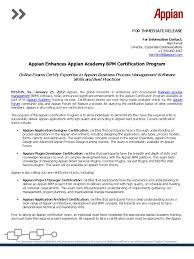 Resume Appian Developer Resume appian enhances academy bpm certification  program professional business process management